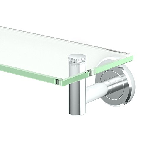 Gatco 4246 Latitude II Glass Shelf, Chrome,Medium