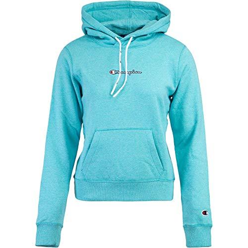 Champion Sweat à capuche avec logo pour femme. - Bleu - Small
