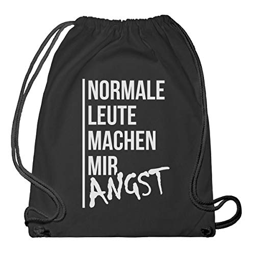 Shirtgeil Hipster Beutel - Normale Leute Machen Mir Angst Turnbeutel & Gym Bag One Size Schwarz