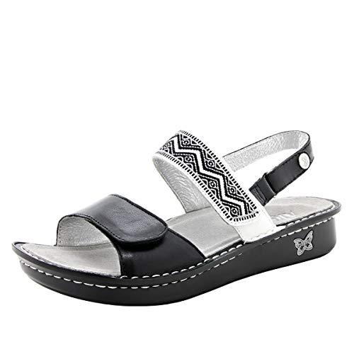 Alegria Verona Womens Sandal Black 8 M US