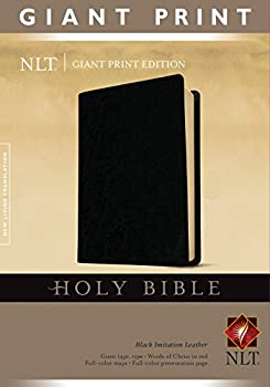 Holy Bible Giant Print NLT  Red Letter Imitation Leather Black
