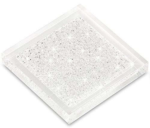 My IMPLEXIONS Luxuriöser Untersetzer veredelt mit Swarovski Kristallen/Elegante Tischdeko (1 Stück - transparent)