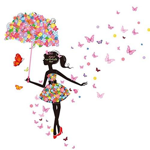 Jamicy® Neuer Schmetterling Blume Fee Aufkleber Baby Mädchen Schlafzimmer Wohnzimmer Wandtattoo