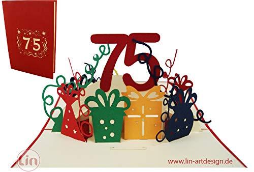 LIN-POP UP Grußkarten zum Geburtstag, Geburtstagskarten Grußkarten Glückwunschkarten,