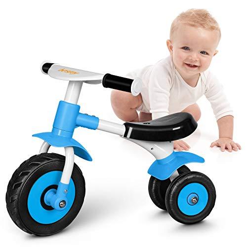 besrey Kinder Laufrad ab 1 Jahr Baby Kinderlaufrad Lauflernrad Balance Fahrrad Rutschrad für Baby 10-24 Monate - Blau
