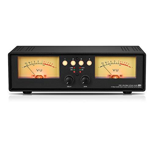 Dual VU Meter indicatore del livello sonoro Sound Level Display splitter/commutatore Box (Light)