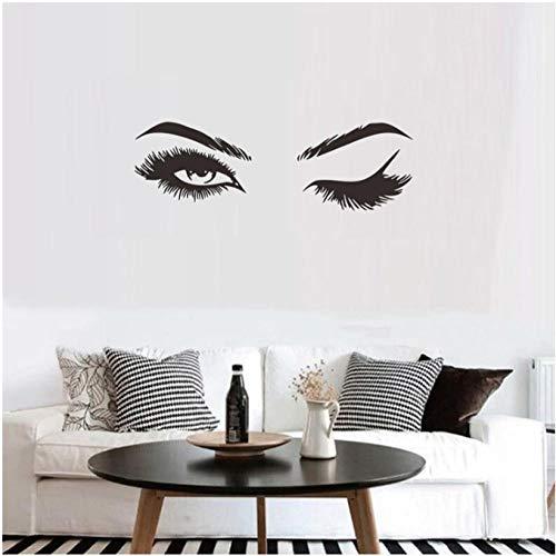 MINGKK - Adhesivo decorativo para pared, diseño de pestañas