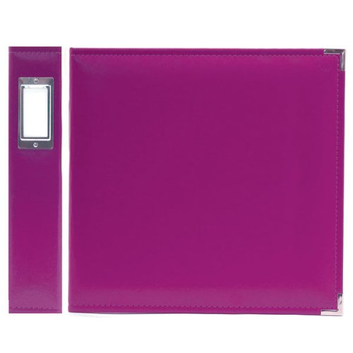 "We R Memory Keepers 30655-9 Classic Leather 3-Ring Binder Album, 12 by 12"", Plum, Grape Soda"
