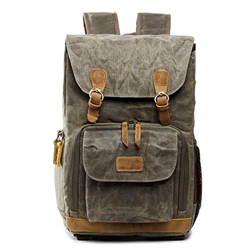 T-ara Il Nuovo Borsa per Fotocamera a Zaino Impermeabile Big Size Bag Bag Batik Batik Canvas Outdoor Fotocamera per Fotocamera Zaino Essenziale per l'escursionismo (Color : Army Green, Size : A)