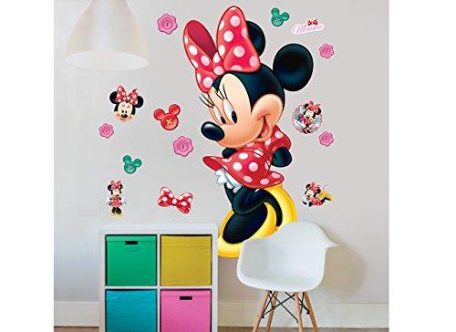 Walltastic Disney, Minnie Mouse, großer Figuraufkleber Wandaufkleber, Polypropylene, Multi, 10 ft Tall, 3 Large Sheets
