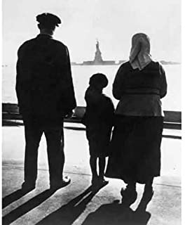 DS Decor Photos Quality Digital Print of a Vintage Photograph - Immigrants Arriving at Ellis Island.Black & White 11x14 inches - Luster Finish