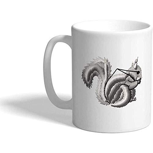 Taza de café personalizada 330 ml Ardilla A Animales Diseño de taza de té de cerámica salvaje