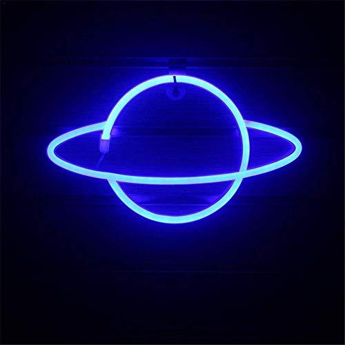 Sfuzwg Neonlicht, LED Planet Neon Zeichen dekorative Licht Wandleuchte, hängendes weiches Nachtlicht, für Home Bar Wandkunst Dekoration Party
