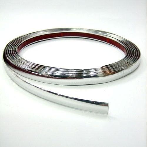 Autohobby 5mm x 5meter Zierleiste Chromleiste Universal Flexibel Selbstklebend Kunststoff Tuning Styling Chrom