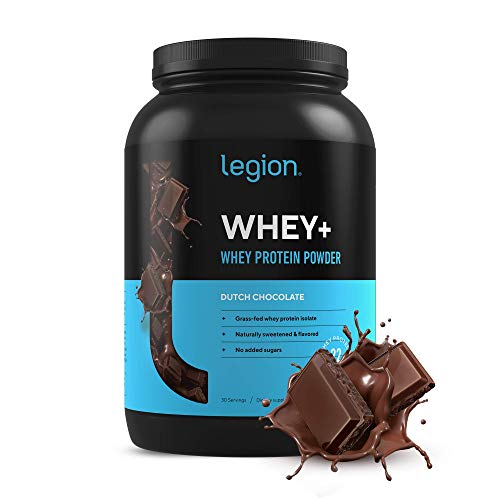 Legion Whey+ Chocolate Whey Isolate Protein Powder from Grass Fed Cows - Low Carb, Low Calorie, Non-GMO, Lactose Free, Gluten Free, Sugar Free. Great for Weight Loss & Bodybuilding, 30 Servings…