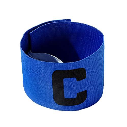 Verliked, fascia elastica per capitano di calcio, regolabile, per adulti, 1 fascia da capitano blu