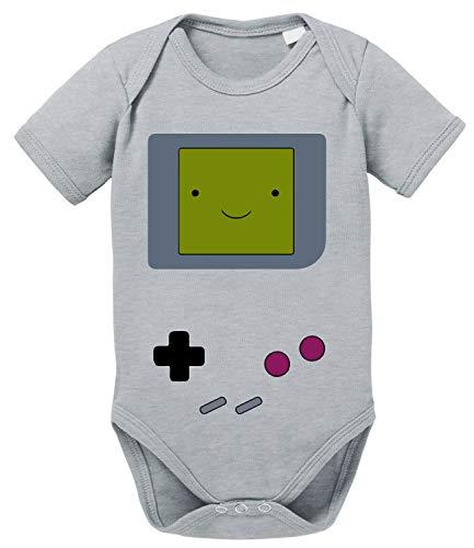 Game Smile Body PS bébé Coton Bio Proverbes Station Barboteuses Garçons et Filles 0-12, Größe2:80/10-12 Mois, Baby:Gris Chiné