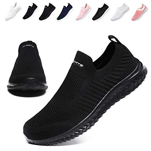 [BaHar] スニーカー レディース ナースシューズ 婦人靴 カジュアルシューズ ウォーキングシューズ 大きいサイズ 白 黒 看護師 超軽量 通気 通気性 歩きやすい 履きやすい22.5cm~26.0cm (ブラックA, measurement_25_p