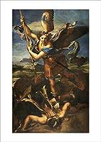 ポスター ラファエロ・サンティ 『サタンを打ち倒す聖ミカエル』 A3【返金保証有 日本製 上質】 [インテリア 壁紙用] 絵画 アート 壁紙ポスター