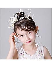 QFF Q Corona de Flores Bohemio Corolla Diadema Hecho a Mano para niños Coreanos aretes Conjunto Accesorios para el Cabello Joyería de Rendimiento Diadema Flor de Cabeza Salvaje F