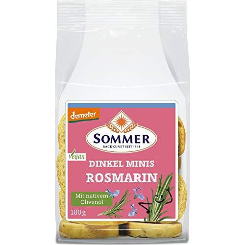 Sommer & Co. Bio Demeter Mini Zwieback Rosmarin & Olivenöl (2 x 100 gr)