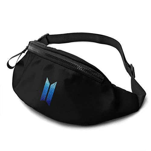 Liuqidong Kpop BTS Waist Pack Bag Fanny Pack for Men&Women Hip Bum Bag with Adjustable Strap for Outdoors Workout Traveling Casual Running Hiking Cycling