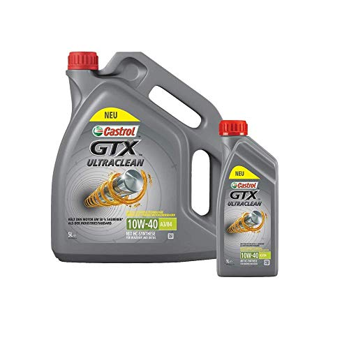 Motorenöl 10W-40 GTX Ultraclean A3/B4 [6 L] Castrol SET15A4D56L Öl Schmierung