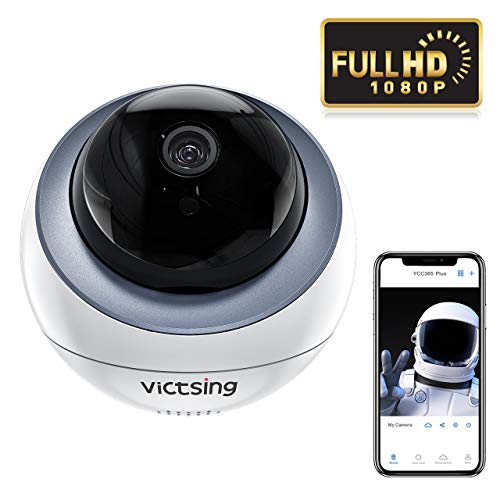 VicTsing Camara WiFi Interior, Soporta 4 Camaras Conectadas& Comparte Entre Varios Dispositivos, 1080P para PC/iOS/Android, Detección de Movimiento, Visión Nocturnal, Camara IP WiFi