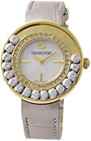 Women's Lovely Crystals 5027203 Gold Leather Swiss Quartz Watch