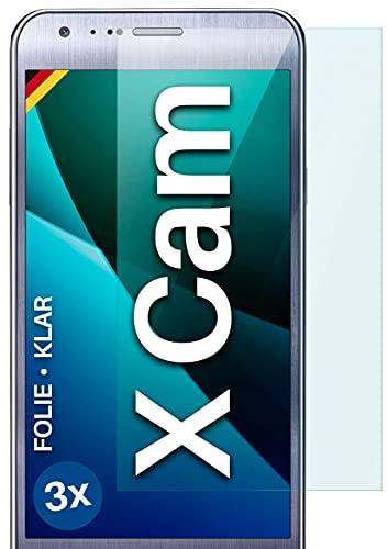 moex Klare Schutzfolie kompatibel mit LG X Cam - Bildschirmfolie kristallklar, HD Bildschirmschutz, dünne Kratzfeste Folie, 3X Stück