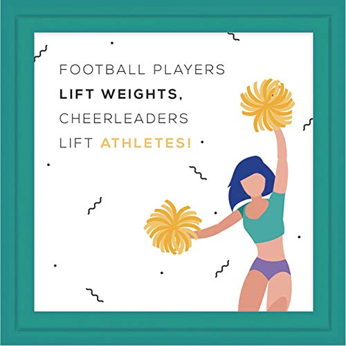 Cheerleader Gifts | 7x7 Tile Artwork Ideal for Cheerleading | Perfect for Coaches, Captain & Teammates | Ceramic Cheer Frame | Inspirational Decor for Cheerleaders with Cheer Quotes