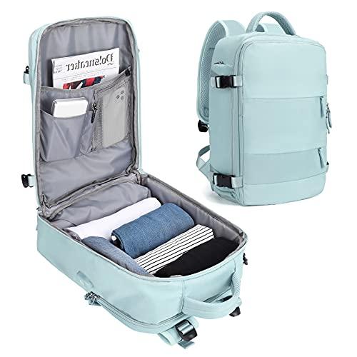 SZLX Donnezainodaviaggio,CarryOnBackpack,trekkingzainoimpermeabileall'apertosportRucksackCasualDaypackscuolaborsaFit15,6polliciportatileconportadiricaricaUSBScompartoscarpe
