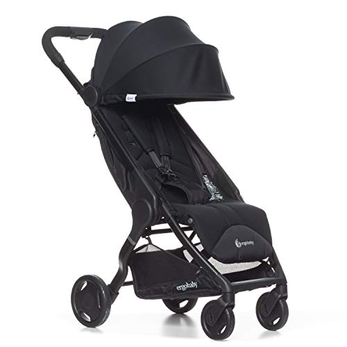 Ergobaby Metro Lightweight Baby Stroller, Compact Stroller with Easy One-Hand Fold, Stroller: Black