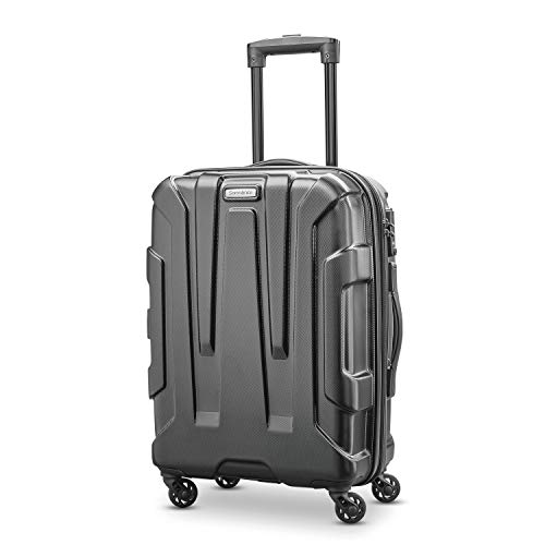 Samsonite Centric Hardside Expandable Luggage with Spinner Wheels, Black, Carry-On 20-Inch