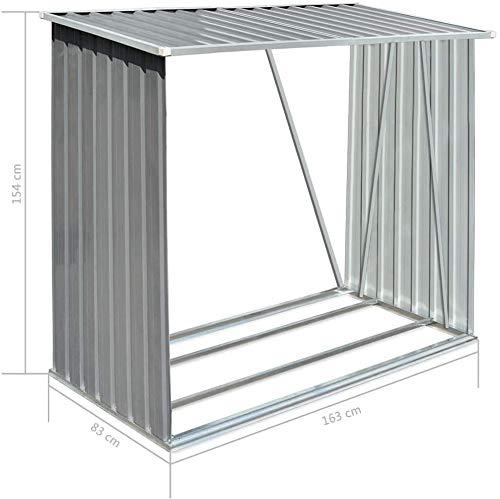 Garten Brennholz-Zufluchts-Brennholz-Lagerung von außen,Aluminum