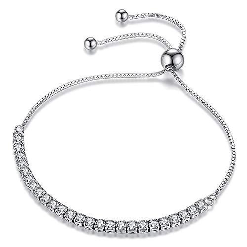 Bracciale donna in argento S925 e zirconi braccialetto, Elegante Scatola di Gioielli per Ogni Momento Speciale