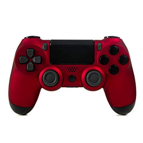 DualShock 4 Wireless Controller for Playstation 4 - Soft Touch Red PS4 - Added Grip for Long Gaming Sessions - Multiple Colors Available