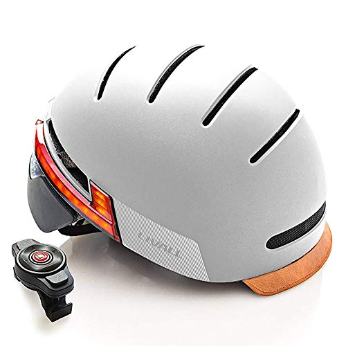 LIVALL Smart Bike Helmet with Auto Sensor LED, Turn Signal Tail Lights, SOS Emergency Alert, Certified Comfortable Cycling Helmet for Urban Commuter Men Women