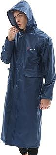 YUHANG Mens Womens Long Raincoat Waterproof Rain Jacket Fashion Reusable Rain Poncho with Hood Hiking Fishing Rainwear for...
