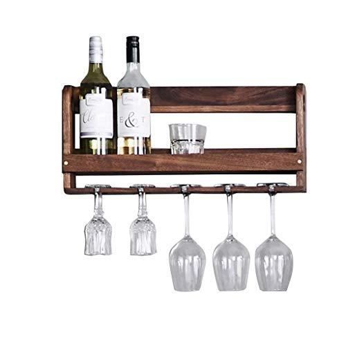 Soporte organizador de botelleros Colgante de pared de madera maciza del hogar europeo Estante del vino Estante simple del estante de la pared Restaurante que cuelga el estante de la taza al revés Est