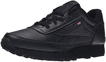 Reebok Women's Classic Renaissance Sneaker, black/dark heather grey/solid grey, 8 M US