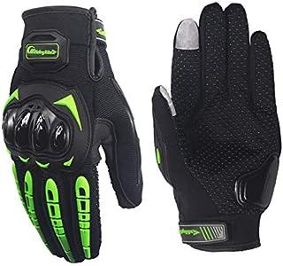 Xuba High Strength Anti-Slip Touch Screen Riding Motorcycle Bike Racing Gloves for Men and Women£¬ Green M