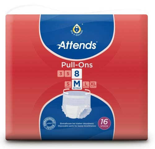 Preisvergleich Produktbild Attends Pull-Ons 8M,  Einmalhose,  bei mittlerer Blasenschwäche,  Größe M,  4 x 16 St