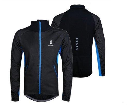 Outdoor Peak Chaud d'hiver Manteau Coupe-Vent Veste à Manches Longues pour Homme Maillot de Jogging en Polaire mâle, Blau mit Schwarz