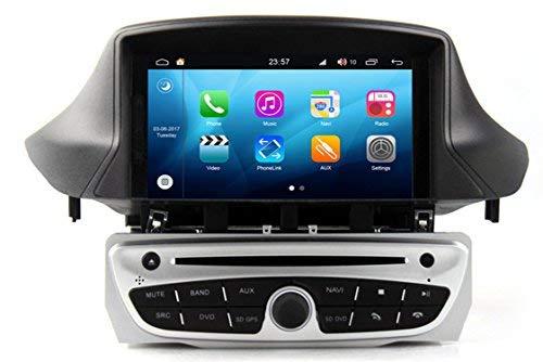 Roverone Quod Core Android Système 7 Pouces lecteur DVD de voiture pour Renault Mégane 3 III Fluence avec autoradio Navigation GPS Radio stéréo Bluetooth SD USB Miroir Link écran tactile