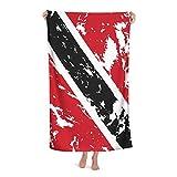 Strandtuch Flagge Von Trinidad Und Tobago Strandtücher Saugfähig Fitnesshandtuch Weich Badehandtuch Für Sport Sauna Fitnessstudio 80X130 cm