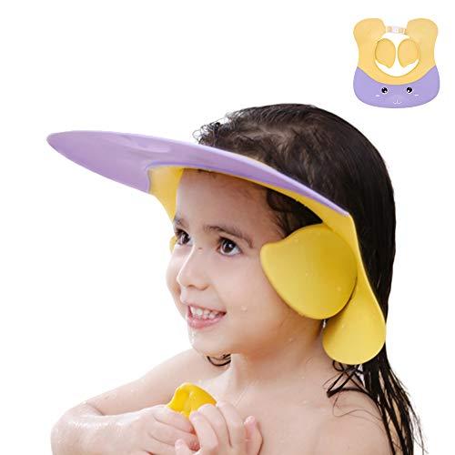 Duschhaube Kinder, Baby Verstellbarer Shampoo Schutz, Shampoo Bade Bad SchüTzen Weiche Kappe Hut, Kappe Wasserdicht Cap für 1-12 Jahre alt