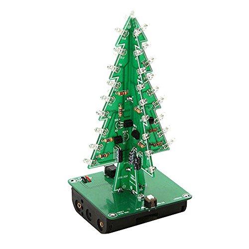 Tiptiper 7 Farbe 3D Weihnachtsbaum LED-Blitz Kit dreidimensionale bunte RGB LED Geschenk