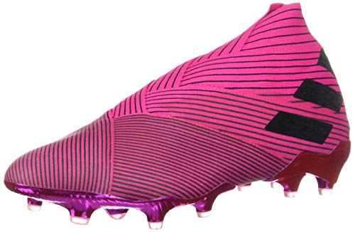 adidas Men's Nemeziz 19+ FG Soccer Cleats (7.5, Pink/Black)