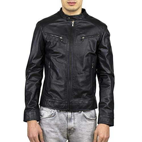Leather Trend - Herren Lederjacke Schwarz mod.U06 - Small